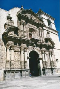 Façade of the Company church, Arequipa, Peru