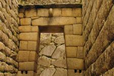 foto Inca gate, Machupicchu, Peru